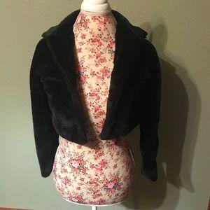Girls Faux Fur Bolero Jacket